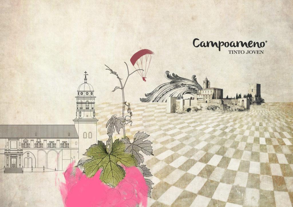 Jaén, un monumento de provincia que protagoniza las etiquetas de vinos Campoameno